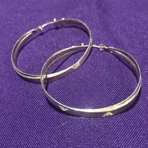 Giorgio Armani emporio hoop earrings 925 sterling